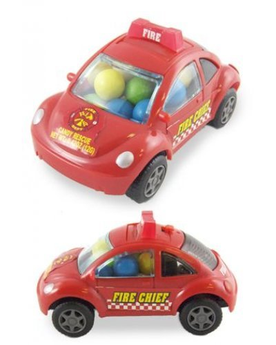 Fire Chief Car Candy VW Pull Back Toy
