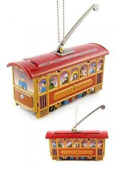 Christmas Trolley Ornament Red