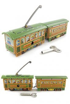 Green Trolley Train Set 1890