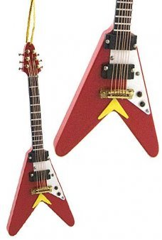 Red Rock N Roll Electric Guitar Ornament