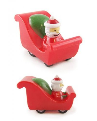 Santa's Red Racer Sleigh Pull Back
