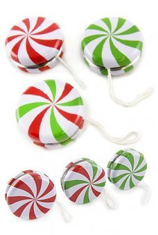 Christmas Candy YoYo Tin Toy Set of 3