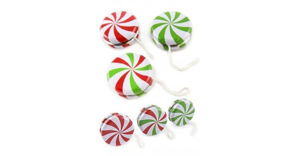 Christmas Candy.Christmas Candy Yoyo Tin Toy Set Of 3