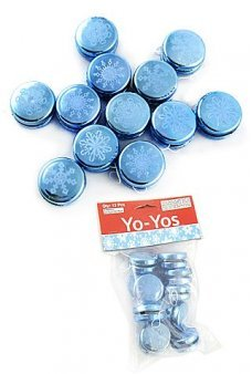 Snowflake YoYo Mini Blue Set of 12