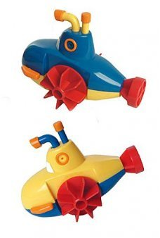 Super Submarine Wind Up Tub Toy