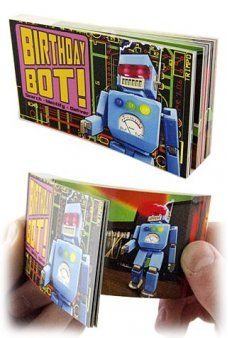 Birthday Bot Flip Book Animated Robot
