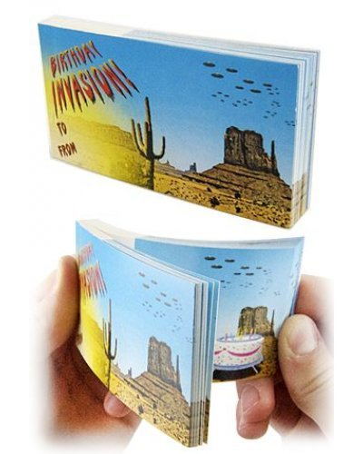 Birthday Alien Invasion Flip Book