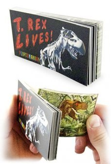 T Rex Dinosaur Lives Moving Flip Book