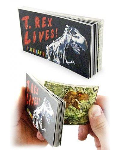 T Rex Dinosaur Lives Moving Flip Book