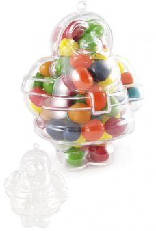 Santa Claus Ornament Clear Candy Jar