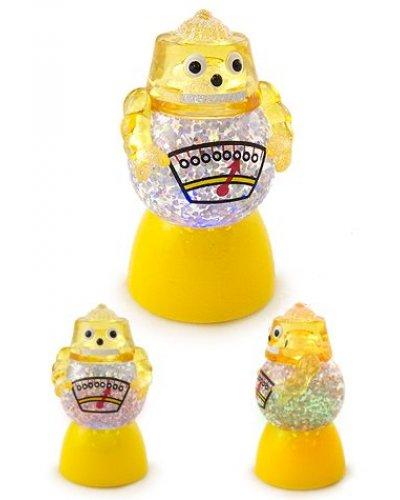 Yellow Robot Glowing Glitter Globe Mini
