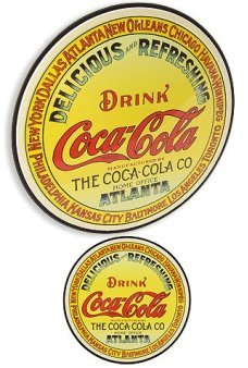 Coca Cola Circle Keg Label Tin Sign