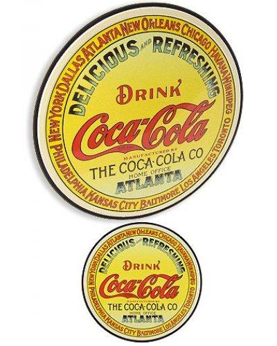 Coca Cola Circle Keg Label Tin Sign