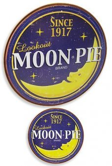 Moon Pie Circle Tin Sign 1917