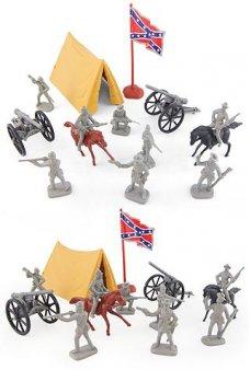 Civil War Southern Rebel Camp Playset