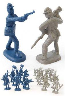 Civil War Soldiers Yankee Rebel Figures