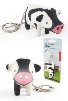 Cow LED Keyring Glow Light Moo Moo