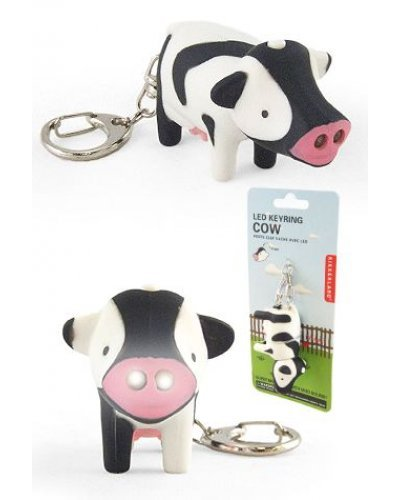 Cow LED Keyring Glow Light Moo Moo