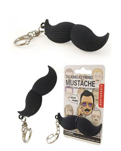 Mustache Talking Keyring Hello There