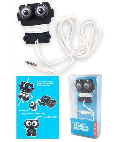 Robo Buddy Ear Buds with Cord Wrap