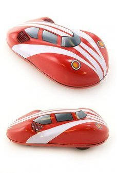White Stripes Friction Racer