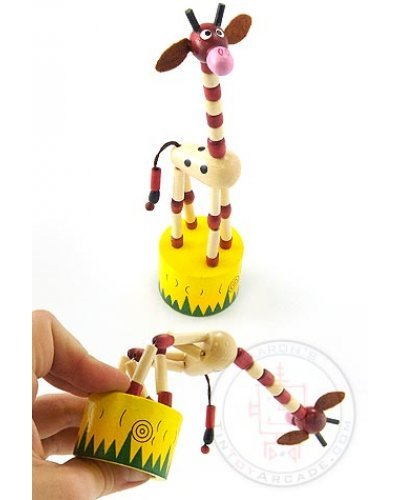 Janie the Giraffe Wooden Push Puppet