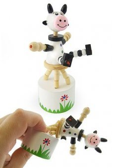Cody the Cow Wood Thumb Puppet