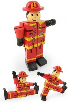 Flint the Fireman Wood Posable Large