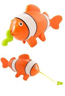 Cady Clown Fish Tub Wind Up Orange
