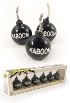 Kaboom Bomb Relighting Candles