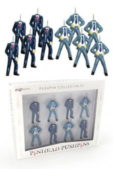 Pinhead Push Pins Office Set