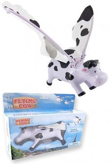 Flying Cow with Flapping Wings