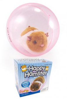 Happy Hamster in Clear Pink Ball