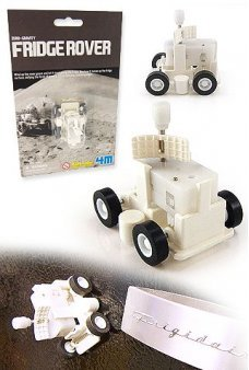 Fridge Rover Magnetic Wind Up White