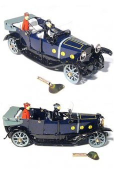 Purple Tourist Convertible Tin Toy