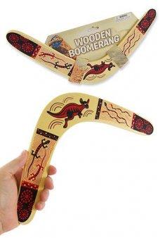 Wooden Boomerang Aussie Kangaroo