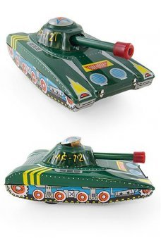 Military Tank Tin Toy Pop Up Soldier
