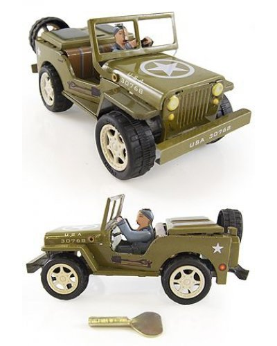 Jeep Tin Toy Wind Up Willys 1941