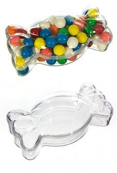 Candy Wrapper Clear Candy Jar