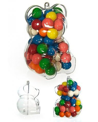 Clear Teddy Bear Candy Jar Ornament
