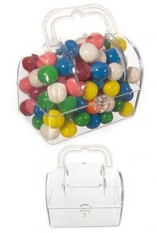 Mini Treasure Box Clear Plastic Candy Jar