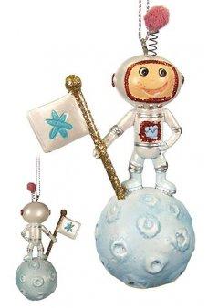 Moon Boy Astronaut Ornament