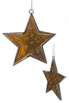 Golden Star Metal Christmas Ornament