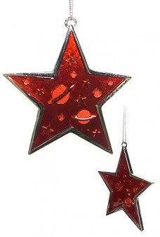 Red Star Metal Christmas Ornament