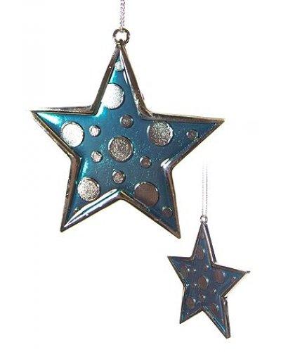 Blue Star Metal Christmas Ornament