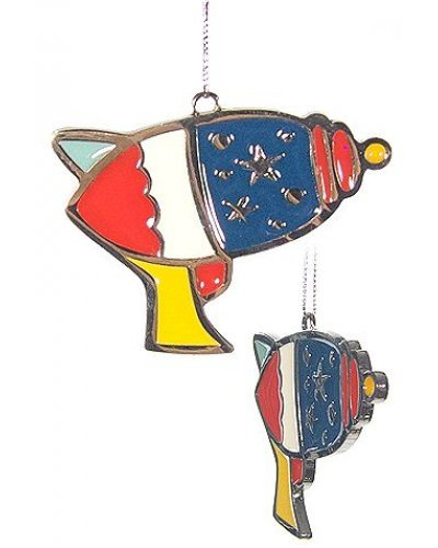 RayGun Ornament USA Red White Blue