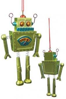 Green Robot Ornament Springy