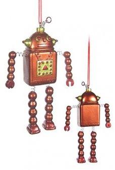 Bronze Robot Ornament Springy