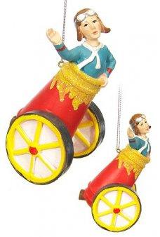 Human Cannonball Circus Ornament