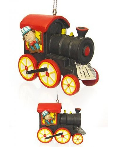 Monkey Drives Circus Train Ornament